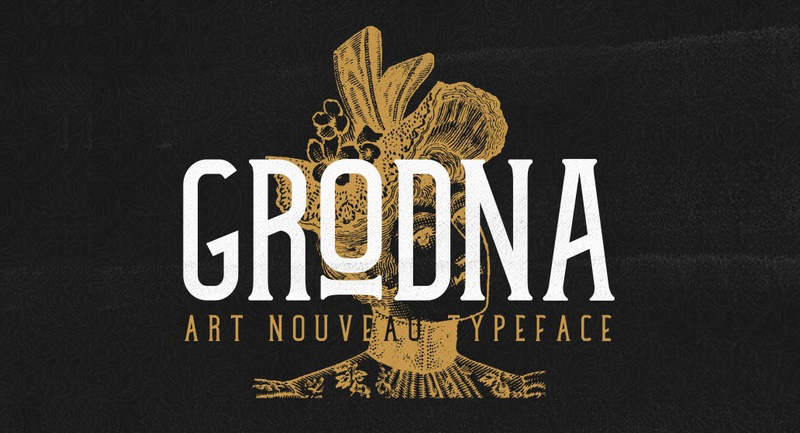 Grodna Font - 85 Cool Free Fonts for the Best DIY Designs in 2019