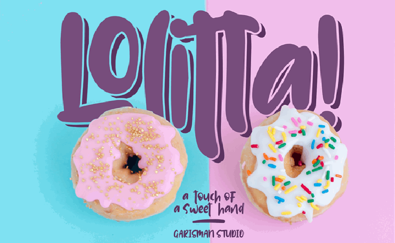 Lolitta Font - 85 Cool Free Fonts for the Best DIY Designs in 2019