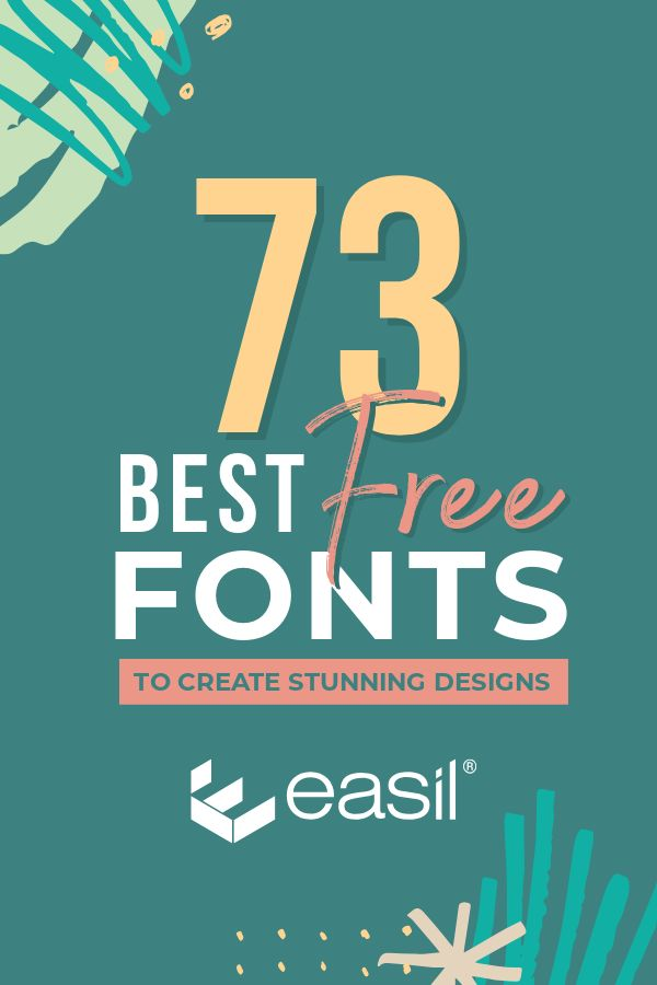 graphic about Printable Fonts for Signs named 73 Perfect Absolutely free Fonts in direction of Crank out Magnificent Layouts - Easil