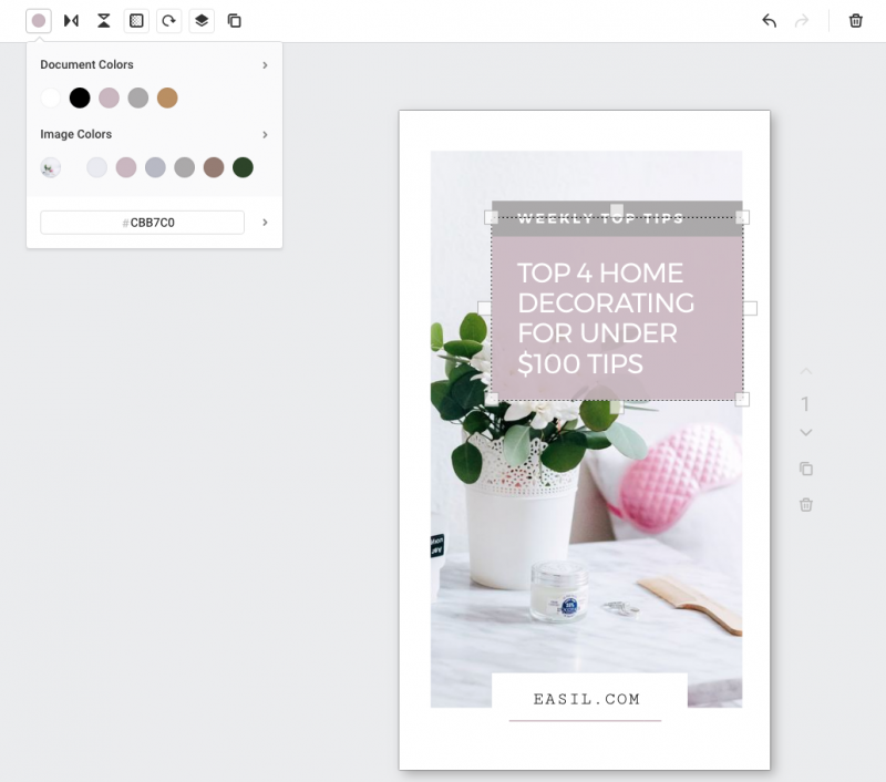 Using Easil's Color Palette to edit designs - Instagram Story Template Designs 10 Ways - Hack Your Visual Design Series