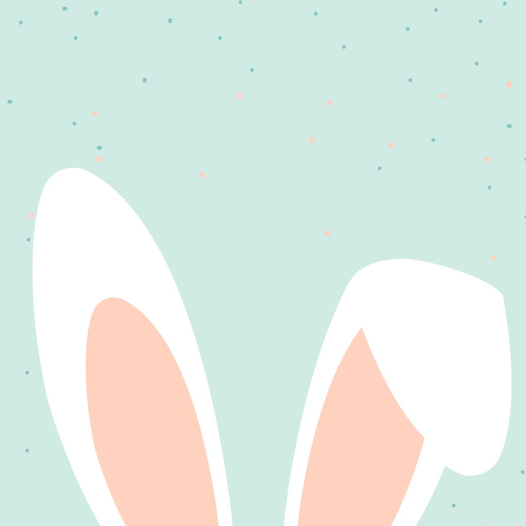 Bunny Ears Template in Easil - April Content Calendar Ideas + Templates