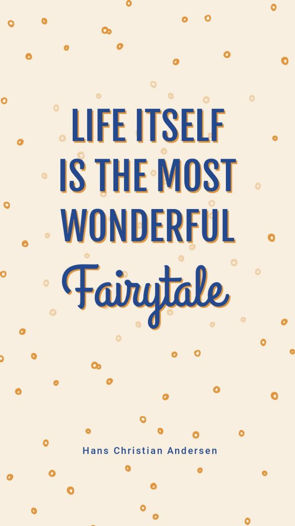 Fairytale Quote Template by Hans Christian Anderson in Easil - April Content Calendar Ideas + Templates