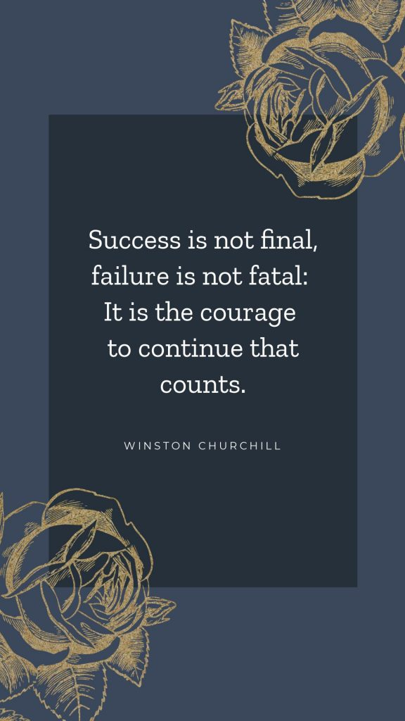 Winston Churchill Quote Template in Easil - April Content Calendar Ideas + Templates