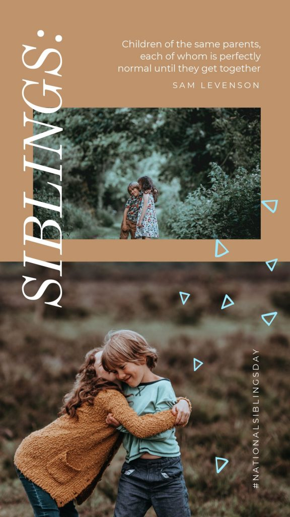 Siblings Template in Easil - April Content Calendar Ideas + Templates