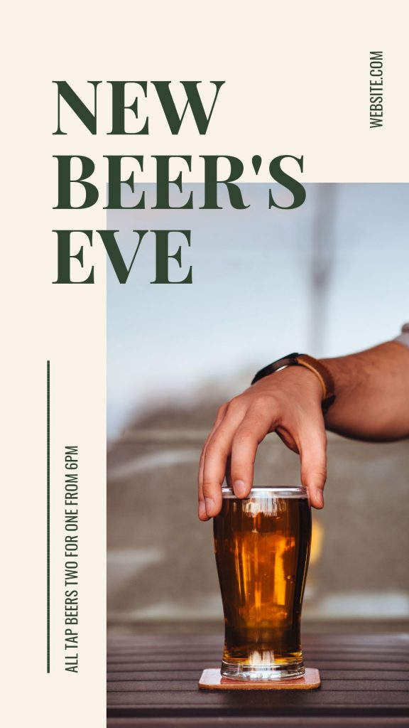 New Beer's Eve Template in Easil - April Content Calendar Ideas + Templates