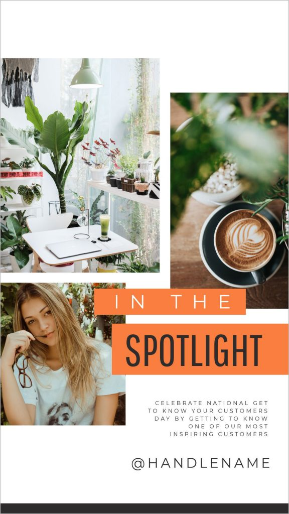 Spotlight template in Easil - April Content Calendar Ideas + Templates