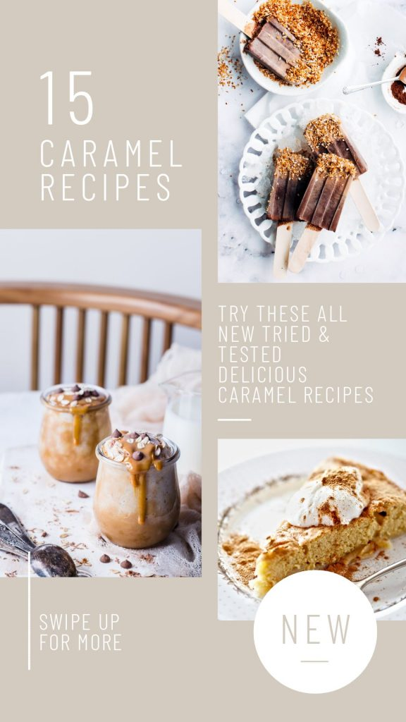 Caramel Recipes Template in Easil - April Content Calendar Ideas + Templates