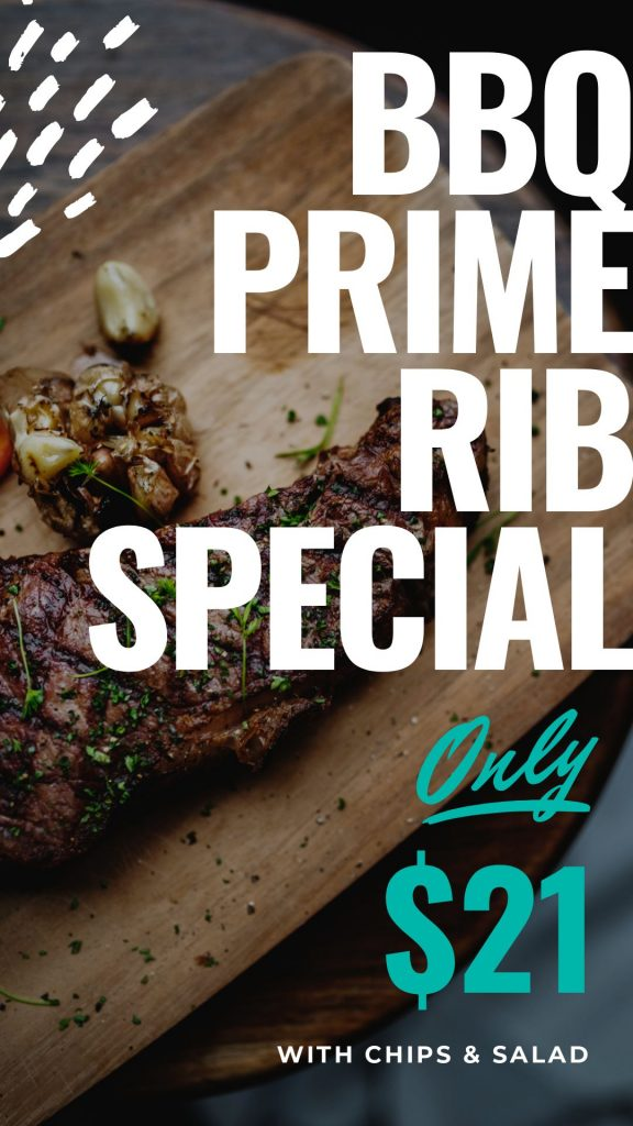 Prime Ribs Template on Easil - April Content Calendar Ideas + Templates