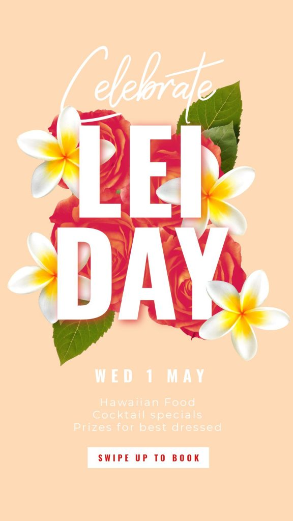 Lei Day Template by Easil - May Content Calendar Ideas and Templates
