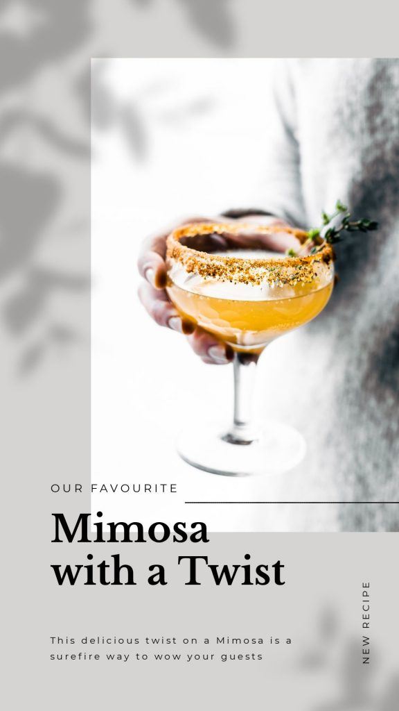 National Mimosa Day Template by Easil - May Content Calendar Ideas and Templates
