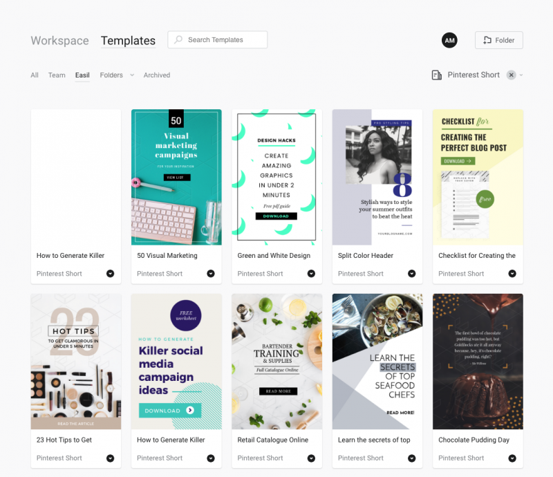 Pinterest Templates by Easil - 5 Tools for Pinterest that will boost your blog traffic