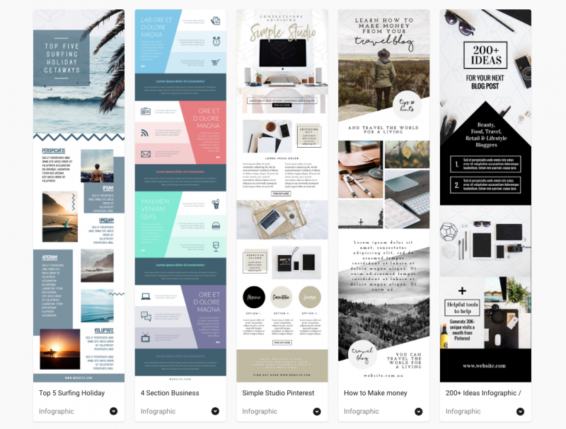 Pinterest Infographic Templates by Easil - 5 Tools for Pinterest that will boost your blog traffic