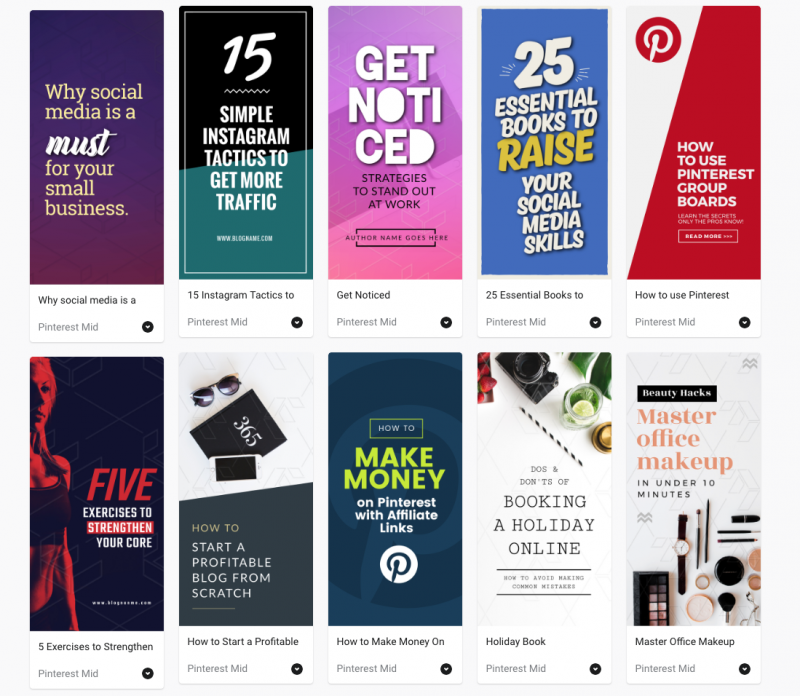 Pinterest Mid Templates by Easil - 5 Tools for Pinterest that will boost your blog traffic