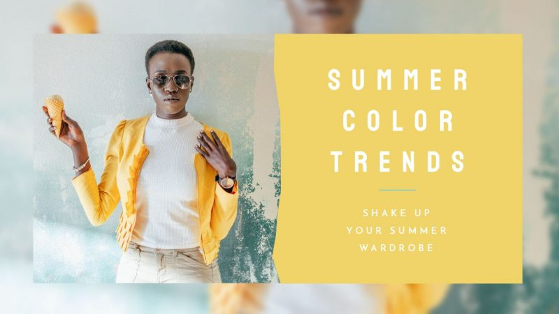 Summer Color Trends YouTube Thumbnail Template by Easil