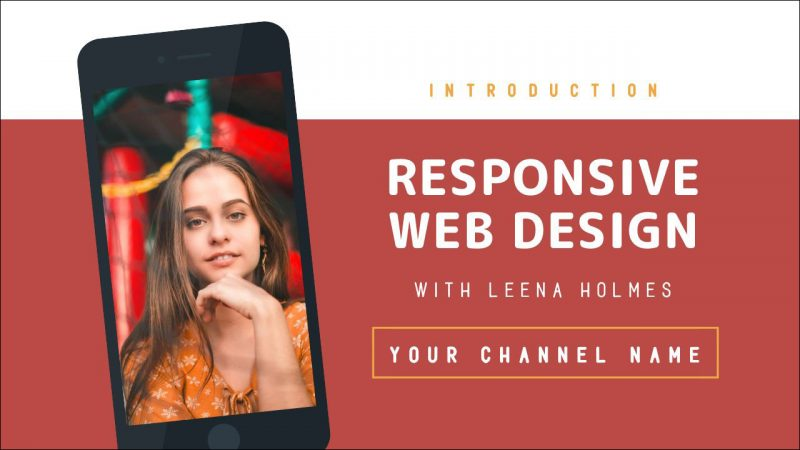 Responsive Web Design Video Thumbnail Template by Easil