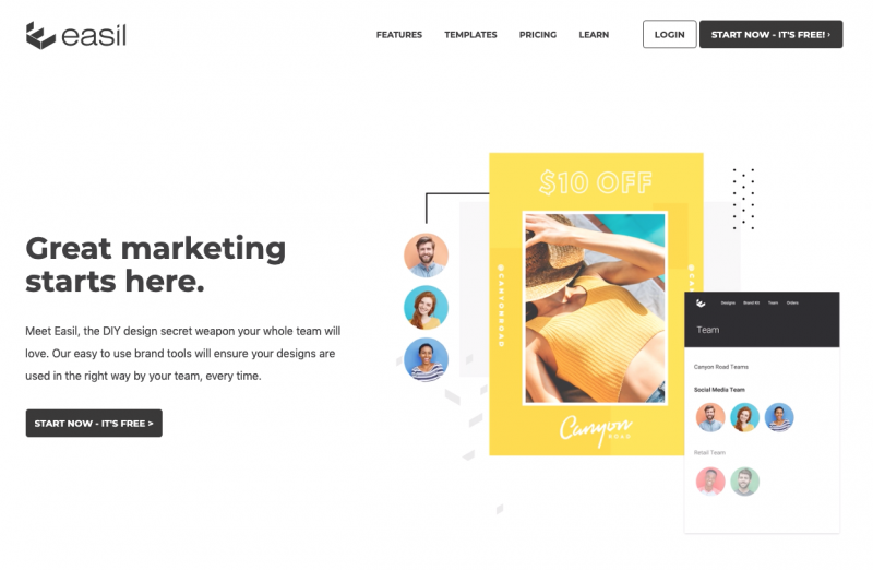 Easil website - 67 Awesome Visual Design Tools to Create Stunning Visual Content