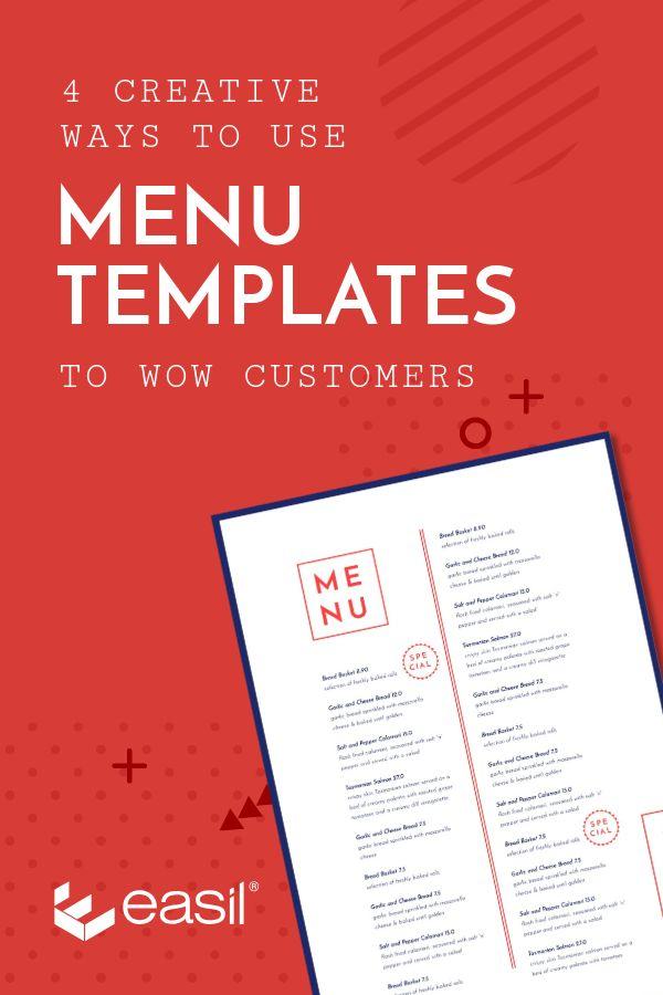 4 Creative Ways To Use Seasonal Menu Templates To Wow Customers Easil