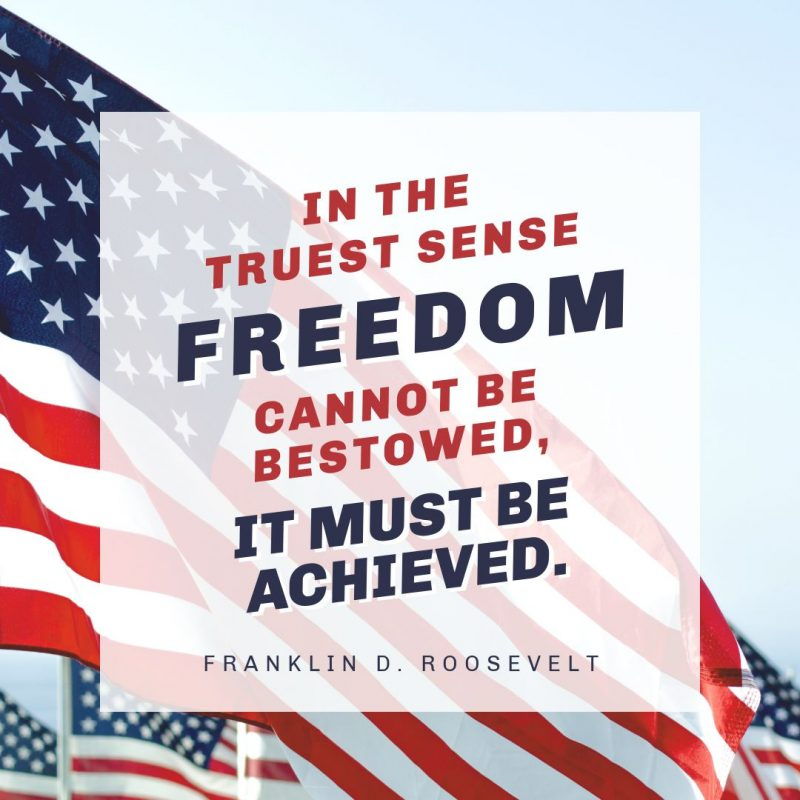 4th of July Quotes Templates by Easil - Franklin D Roosevelt