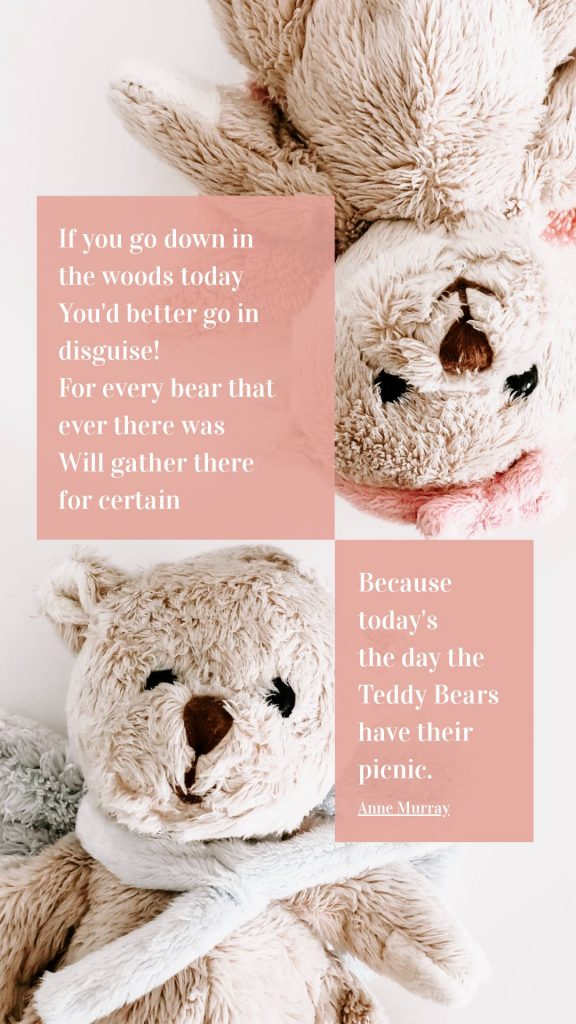 Teddy Bear Picnic Day Template by Easil - July Content Calendar Ideas and Templates