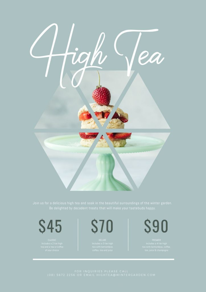 High Tea Design in Easil
