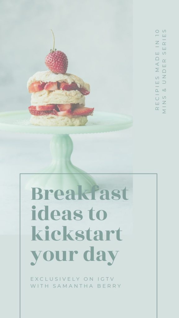 Breakfast Ideas to Kickstart Your Day - One Custom Image, 10 Ways - Hack your Visual Design Series
