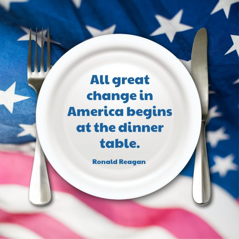 4th of July Quotes Templates by Easil - Ronald Reagan