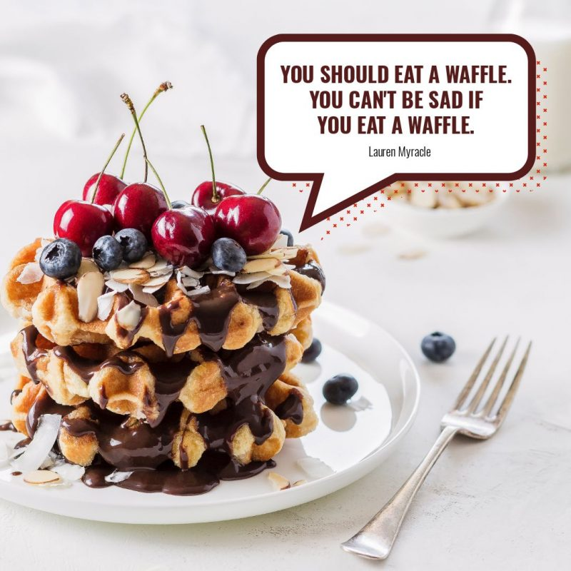 Waffle Quote Template by Easil - August Content Calendar Ideas and Templates.