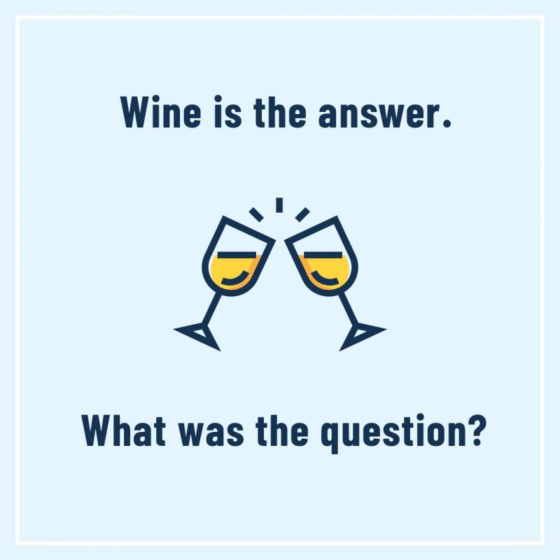 Wine is the answer template by Easil