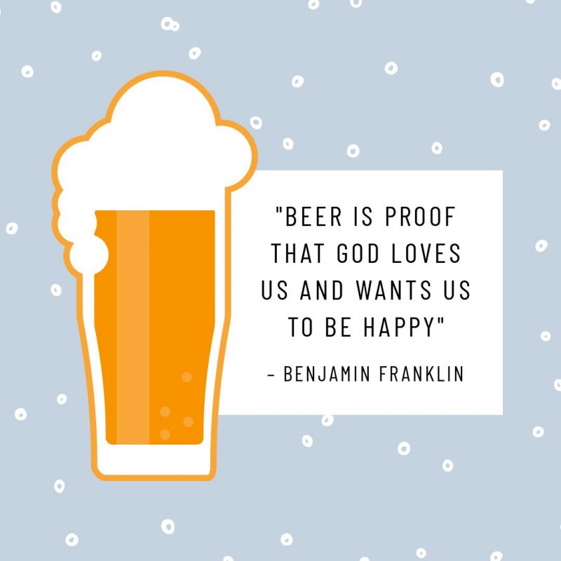 Beer Quote template - August Content Calendar Ideas and Templates.