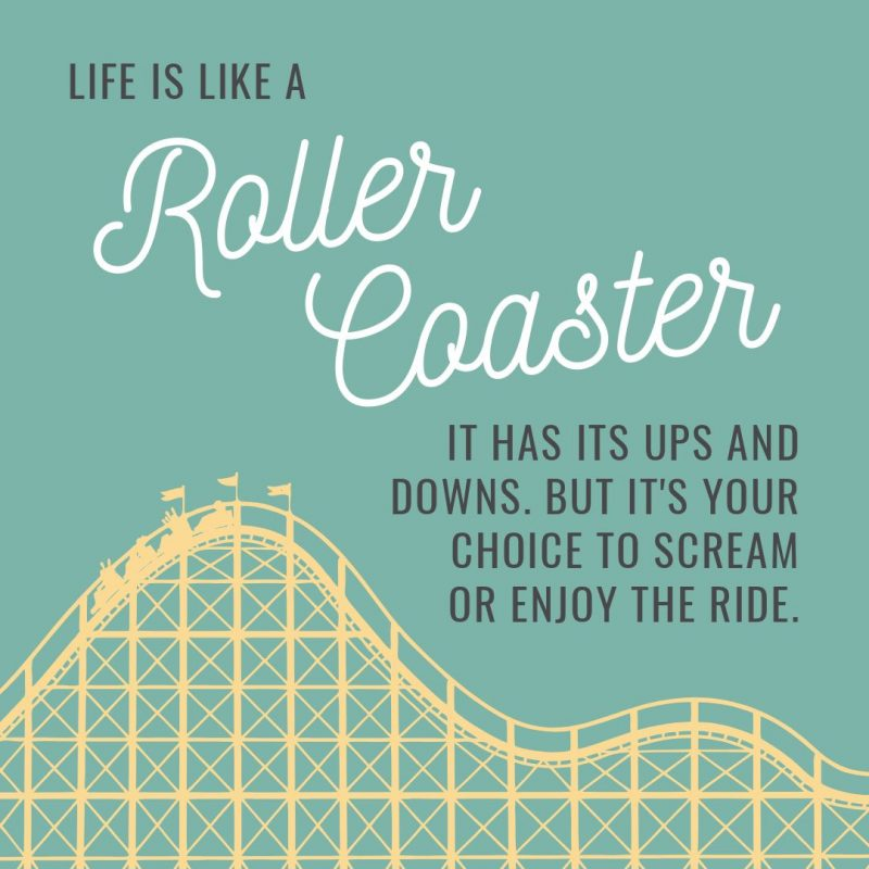 Roller Coaster Quote Template by Easil - August Content Calendar Ideas and Templates.