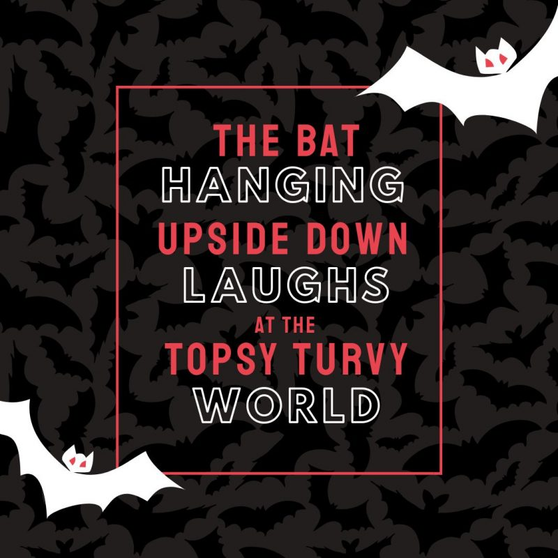 Bat Quote Template by Easil - August Content Calendar Ideas and Templates.