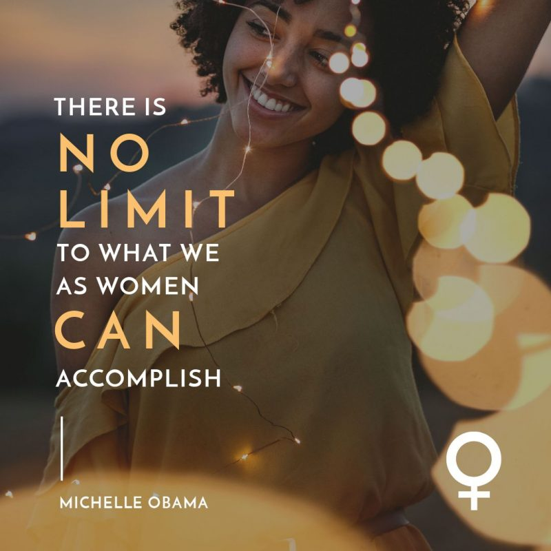 Women No Limit Quote Template by Easil - August Content Calendar Ideas and Templates.
