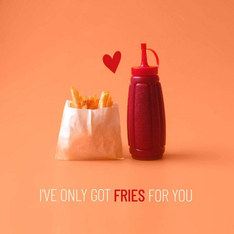 I've only got fries for you template by Easil - August Content Calendar Ideas and Templates.