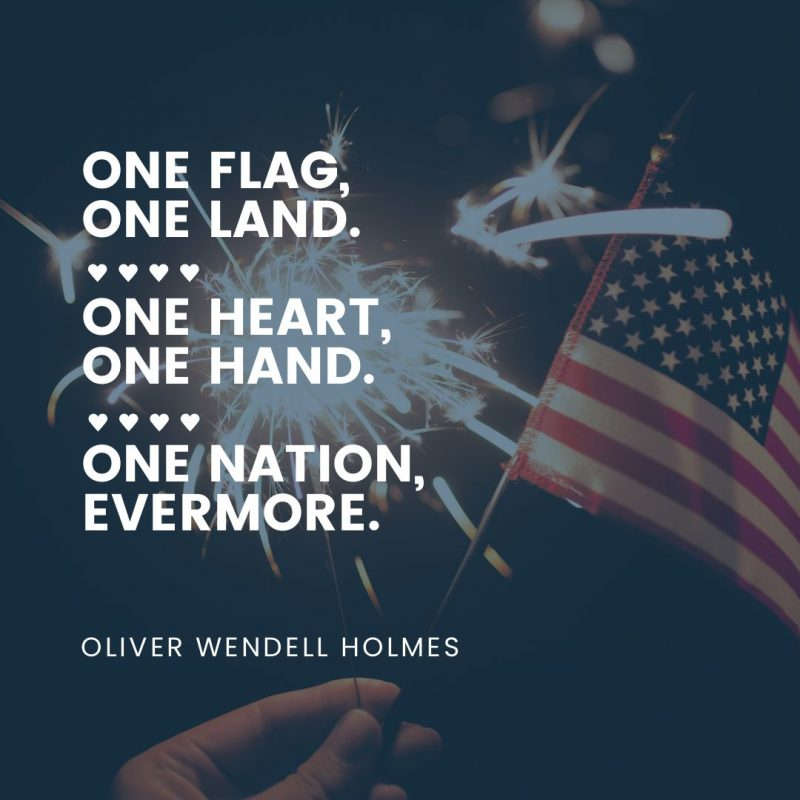 4th of July Quotes Templates by Easil - Oliver Wendell Kolmes