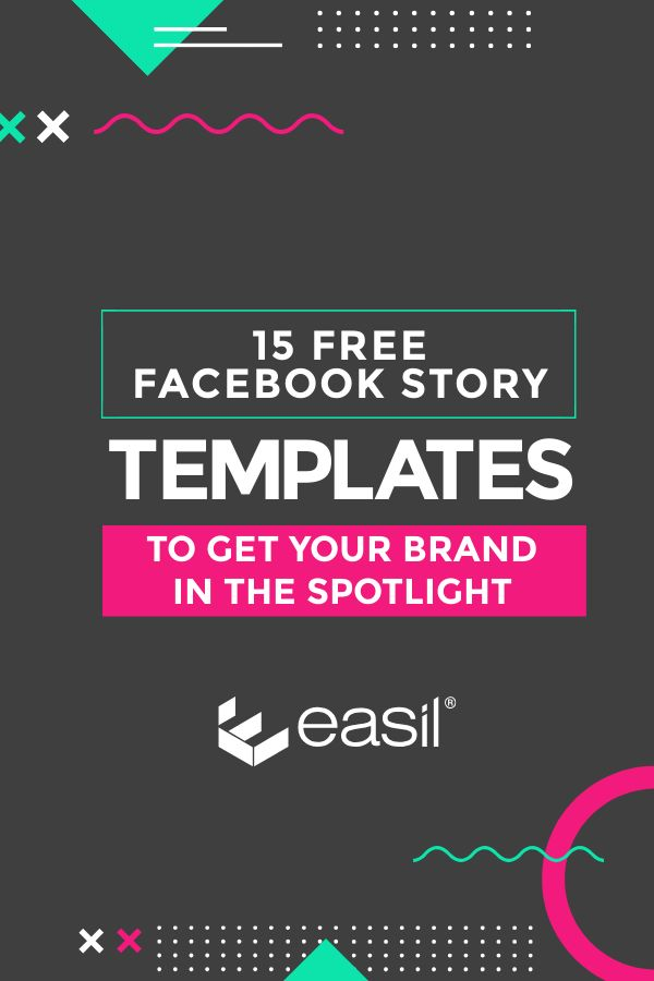 Free Facebook story templates by Easil - Pinterest