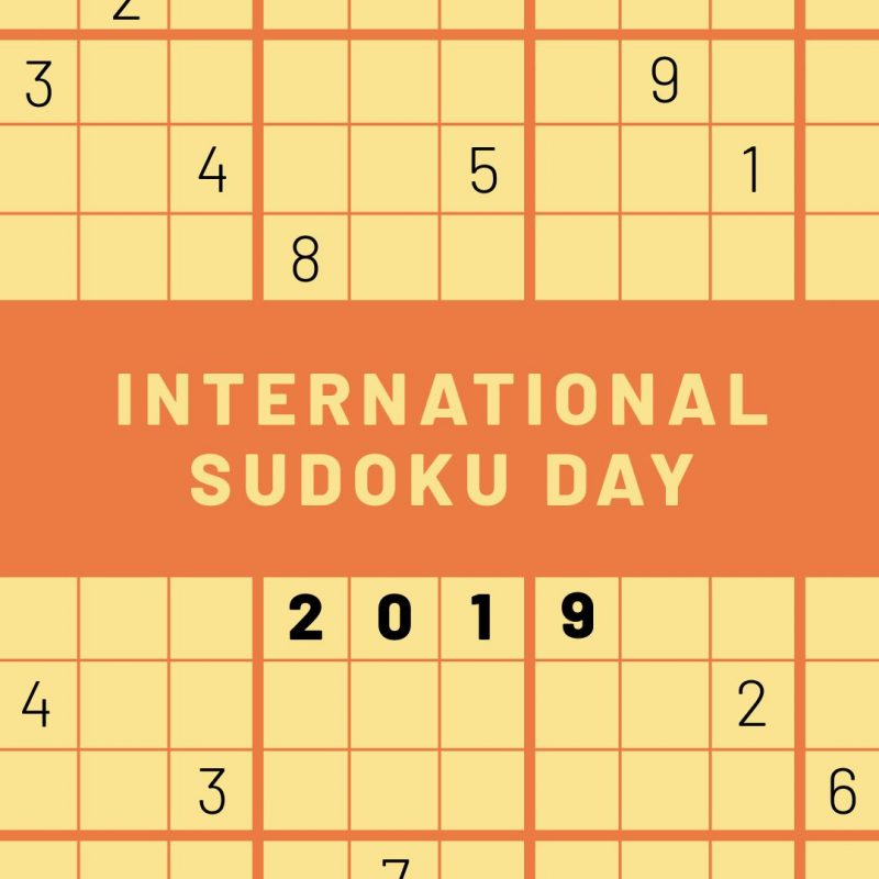 International Sudoku Day Template by Easil - September Content Calendar Ideas and Templates