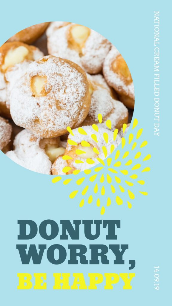 National Cream Filled Donut Day Template by Easil - September Content Calendar Ideas and Templates
