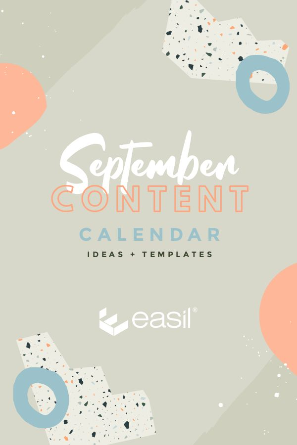 September Content Calendar Ideas and Templates