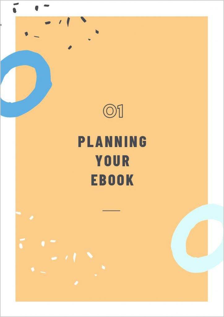 How to Create an ebook - chapter heading example page