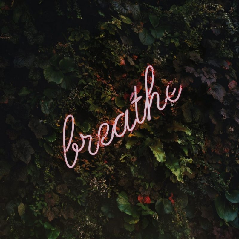 Breathe Neon Sign image by Unsplash  - October Content Calendar Ideas and Templates