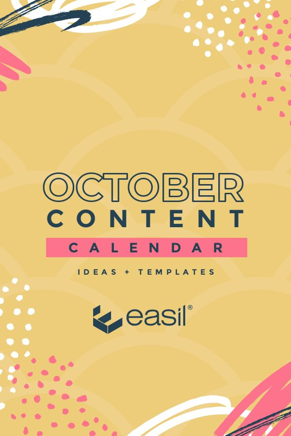 October Content Calendar Ideas and Templates