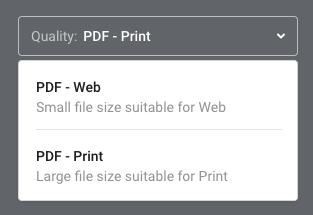 eBook download options panel
