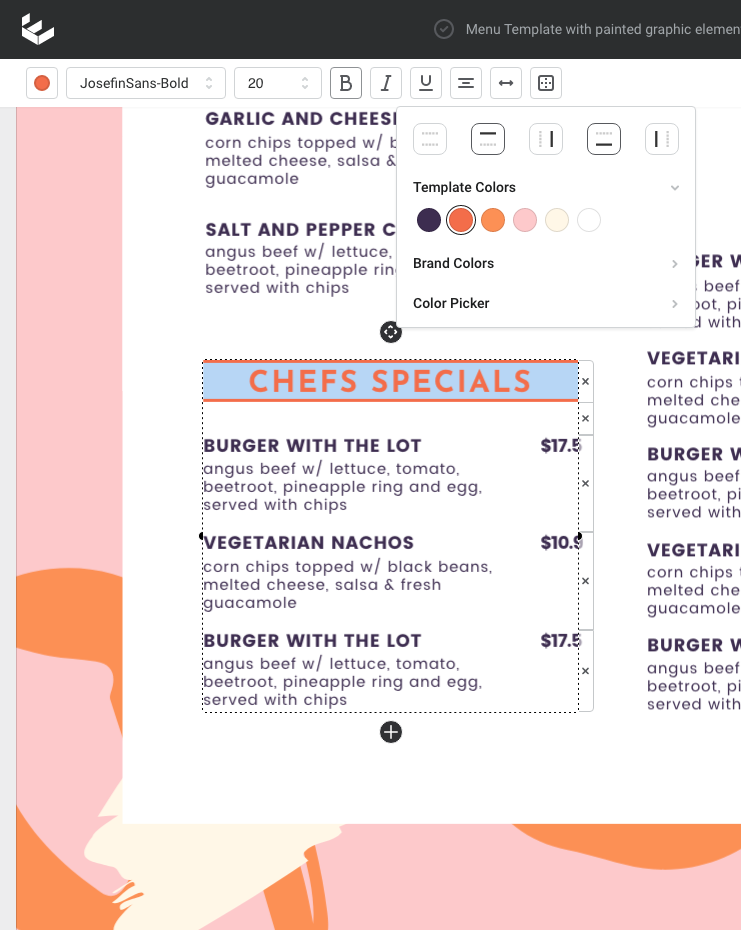 Learn how to design a menu without a designer - Header formatting tips