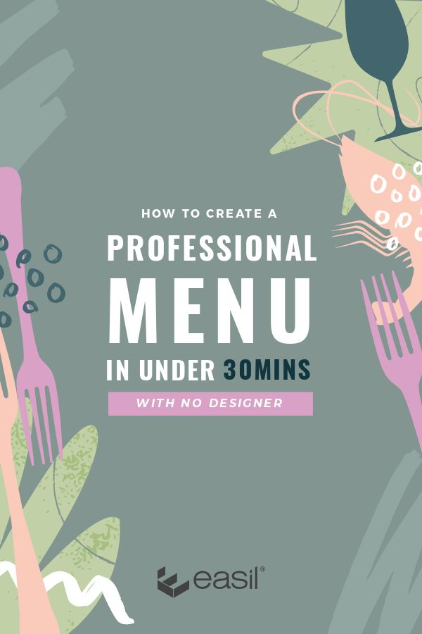 Learn how to design a menu without a designer