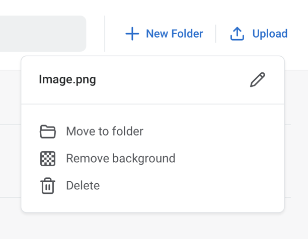 How to use the background remove tool - location of button in My Images dashboard