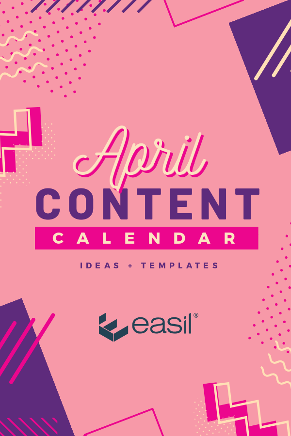 April Content Calendar Ideas + Templates Pinterest image