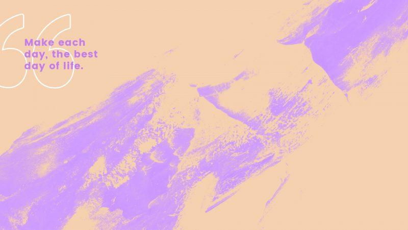 Zoom Background Template - Neon Quote Design