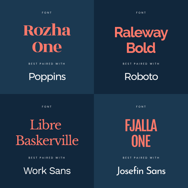 Tip 4 for Professional Typesetting in your DIY Design - learn about font pairs