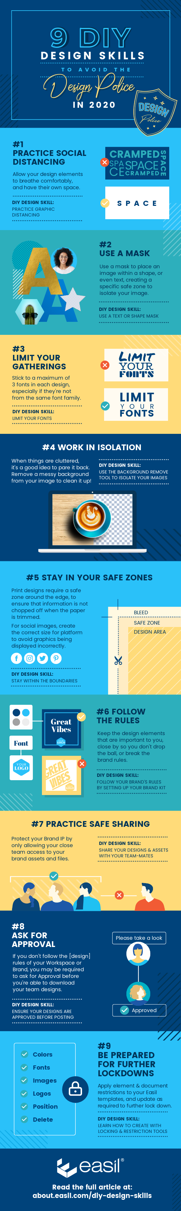 9 DIY Design Skills to Avoid the Design Police in 2020 - Infographic