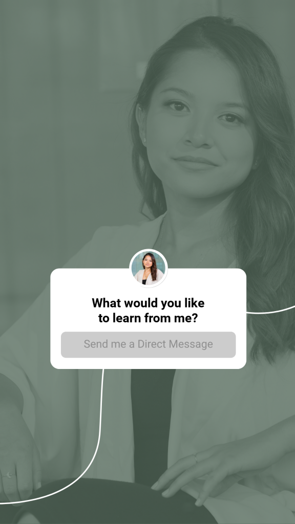 Linkedin Stories Template - Create your own Question Sticker